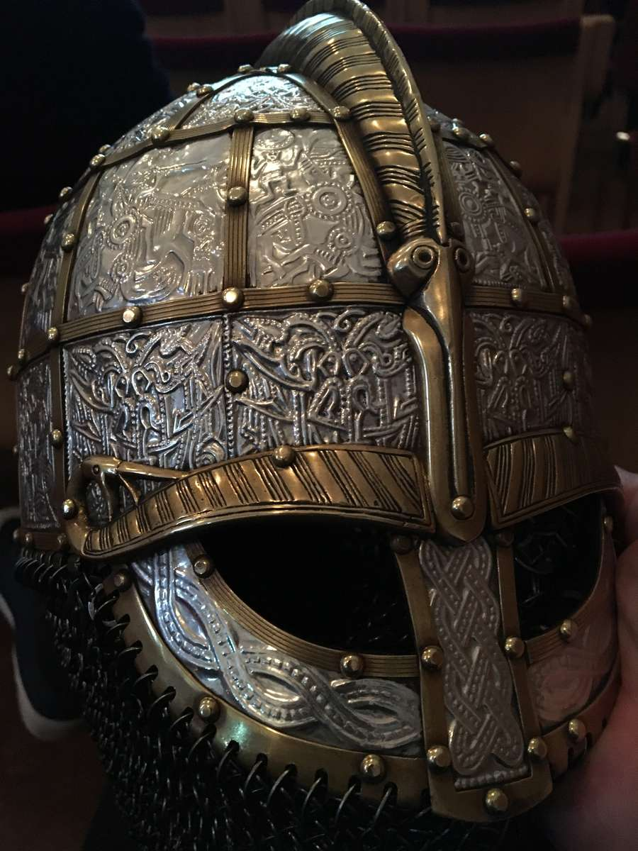 An immaculate reproduction of the XXXX helmet