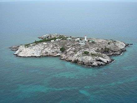 Aerial view of Booby Island. Image: Marty Rock / Wikimedia.