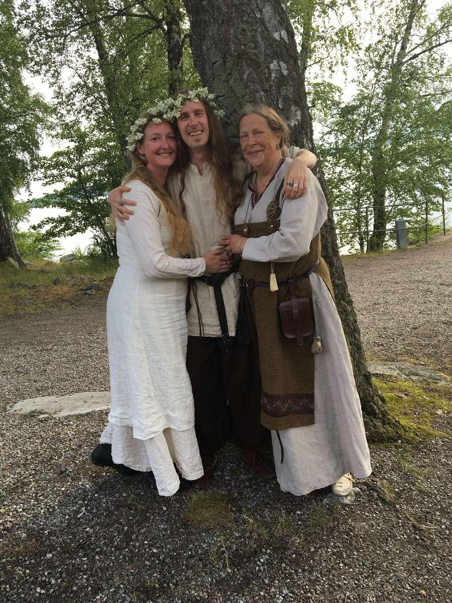 Birka staff at Mid-summer festivities
