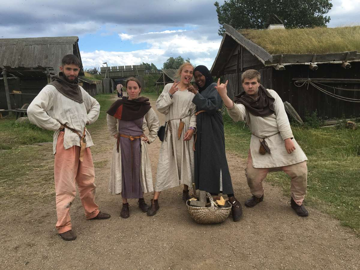 The recreated township is popular with historical reenactors and the site of a Viking Age market annually in July.