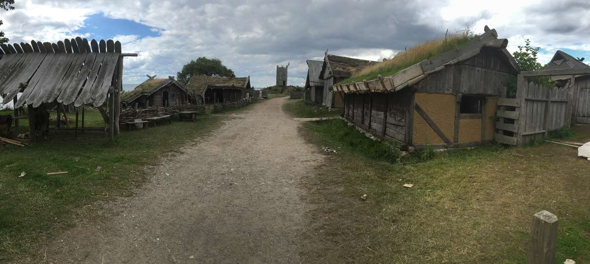 Foteviken presents a recreation of a late Viking Age/Early Medieval township