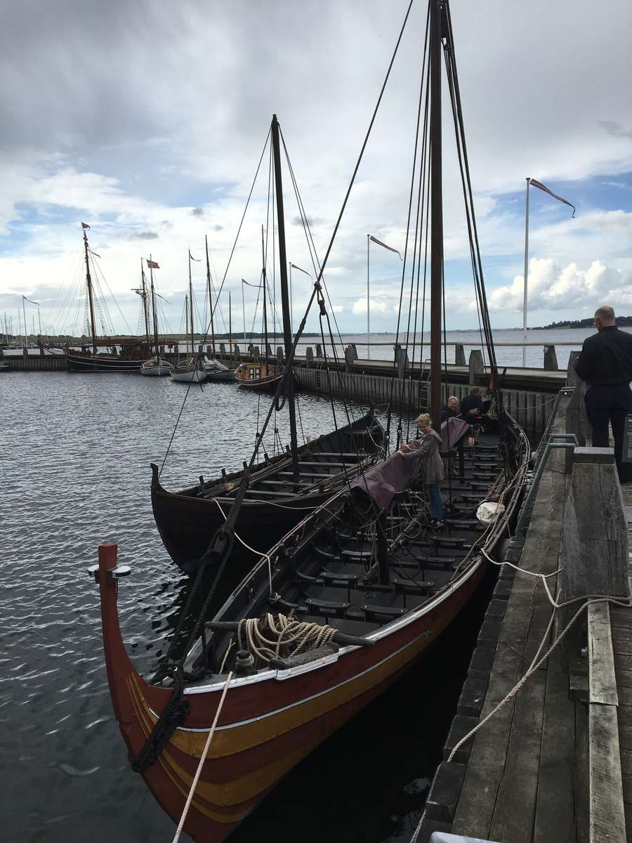 There are several reconstructed vessels at the museum wharves