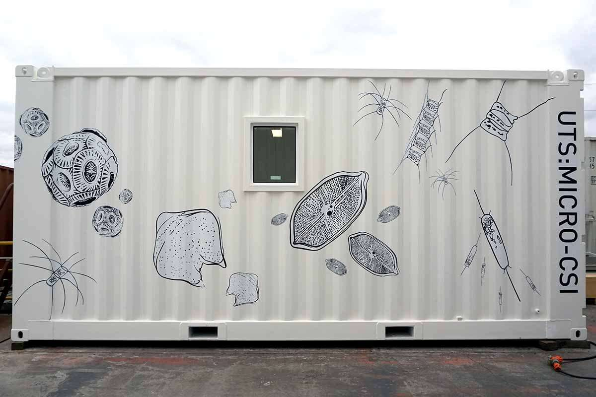 Usually the Micro-CSI lab can be found on the RV Investigator. Image: UTS.