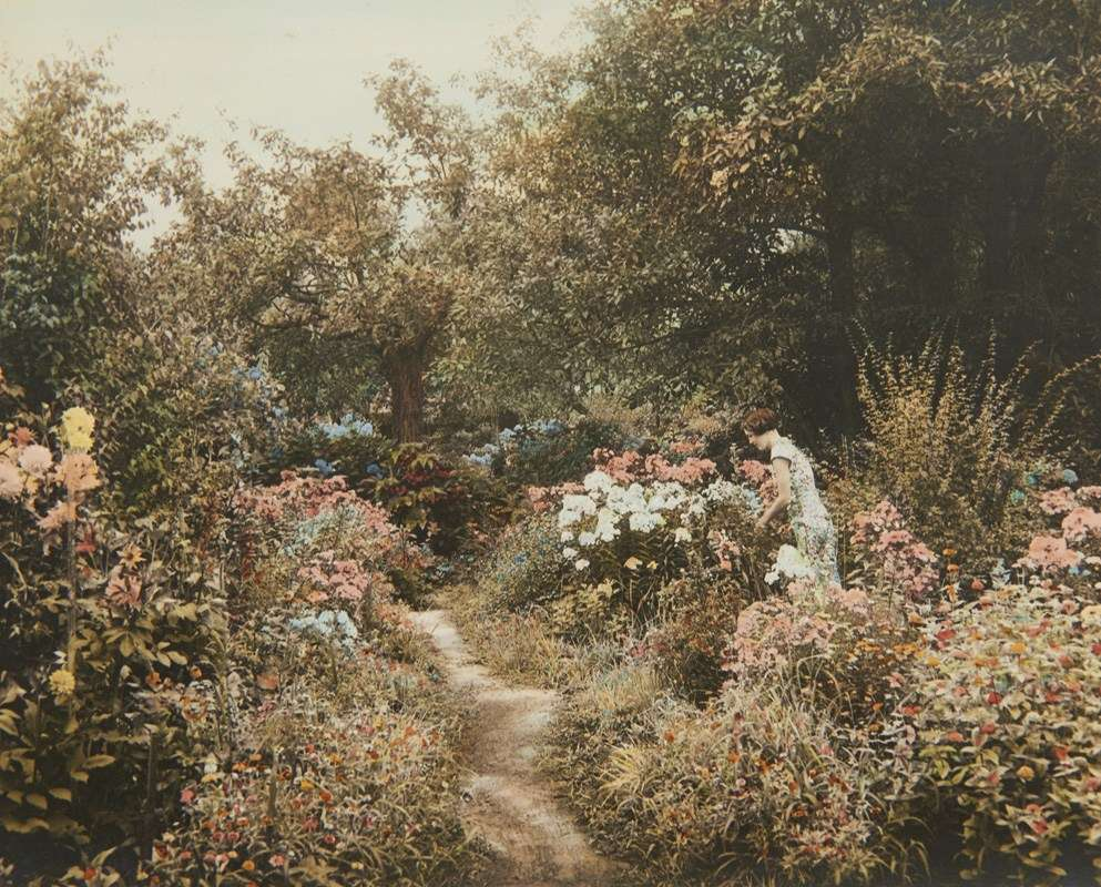 In the garden. Image: Reproduced courtesy the Cazneaux family.