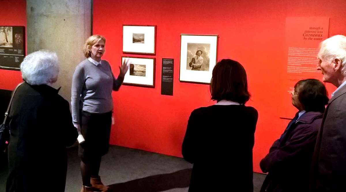 Volunteer training for our Cazneaux exhibition, with Senior Curator Daina Fletcher. Image: Deanna Varga / ANMM.