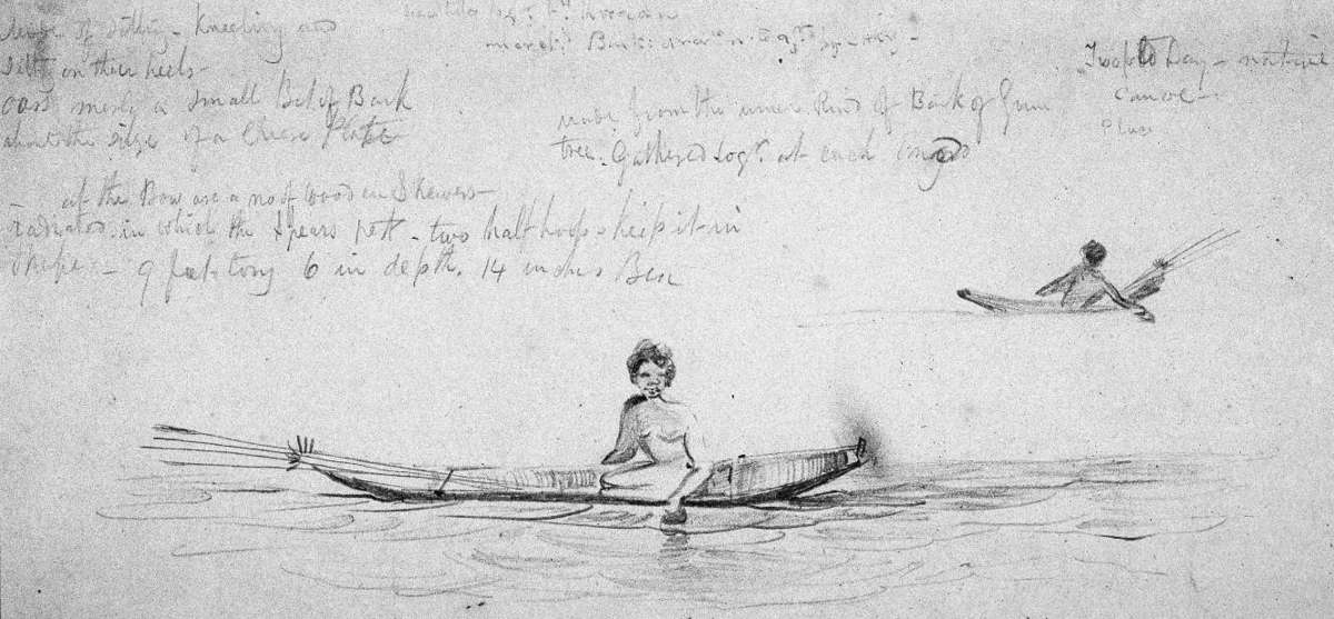 A diary entry by Brierly on the local Yurin people of south-east New South Wales. Image courtesy of the Mitchell Library, State Library of New South Wales.