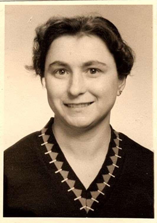 Adele in 1957, just before leaving for Australia. Image: Ilse Fait.