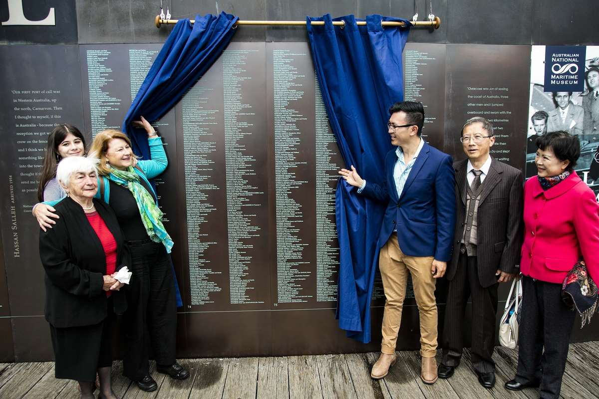 Welcome Wall ceremony September 2016. Image: Andrew Frolows / ANMM.