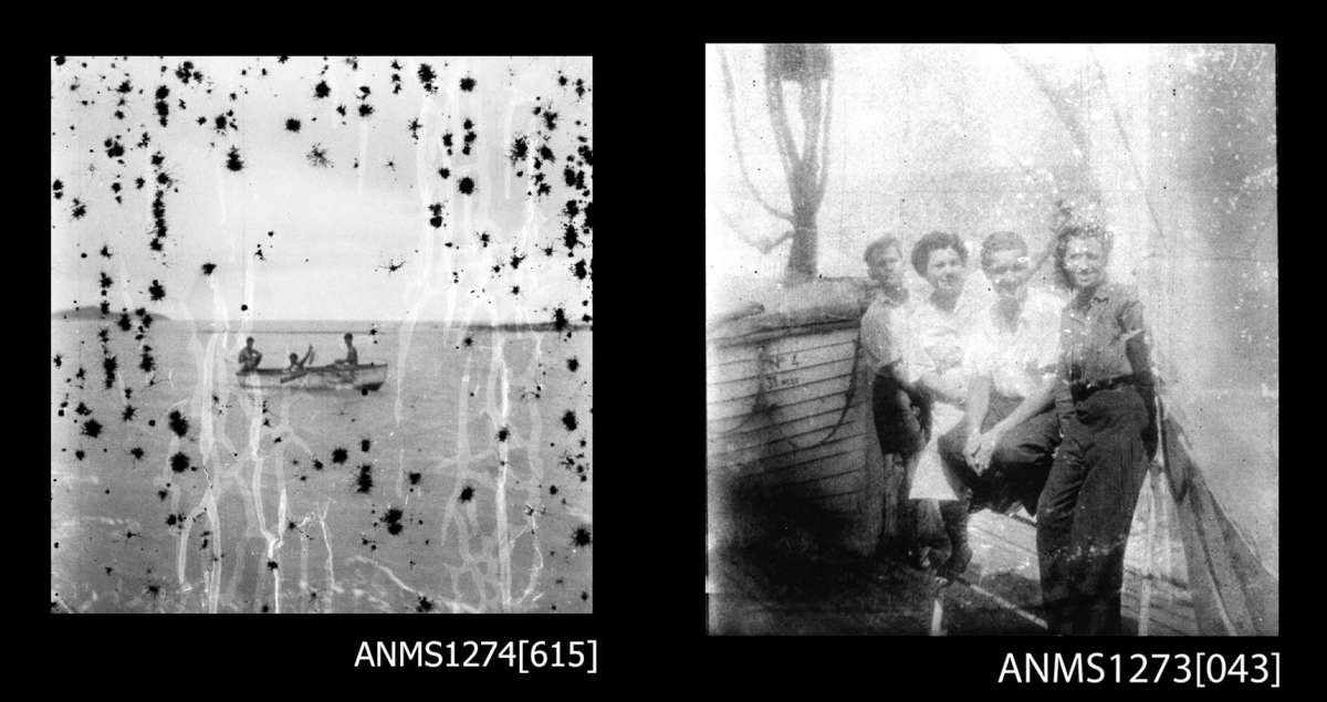 Examples of the scanned image quality from degraded negatives. Images: © Estate of Denis George / ANMM Collection ANMS1274[615] and ANMS1273[043].