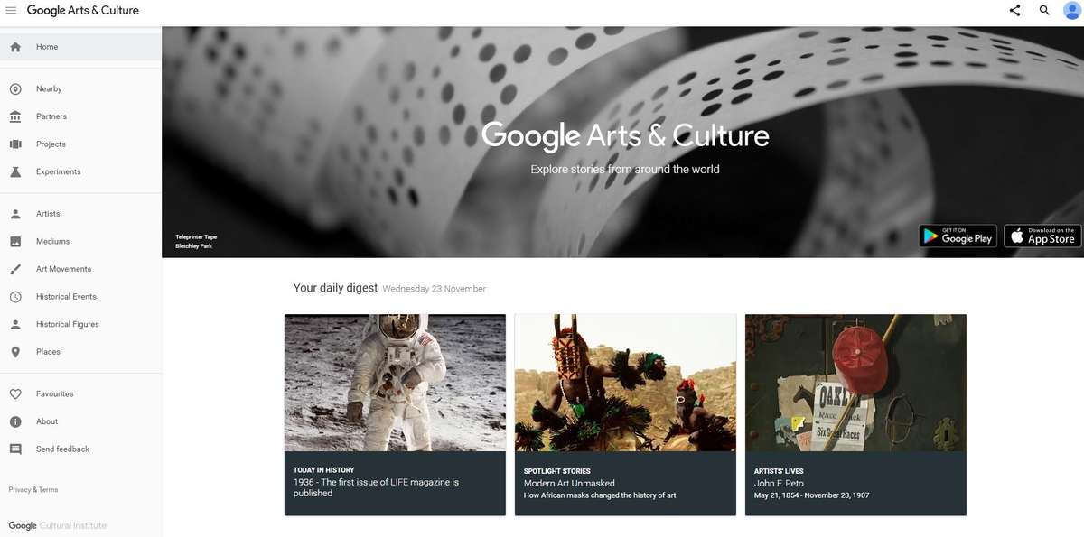 Google Arts and Culture Website.