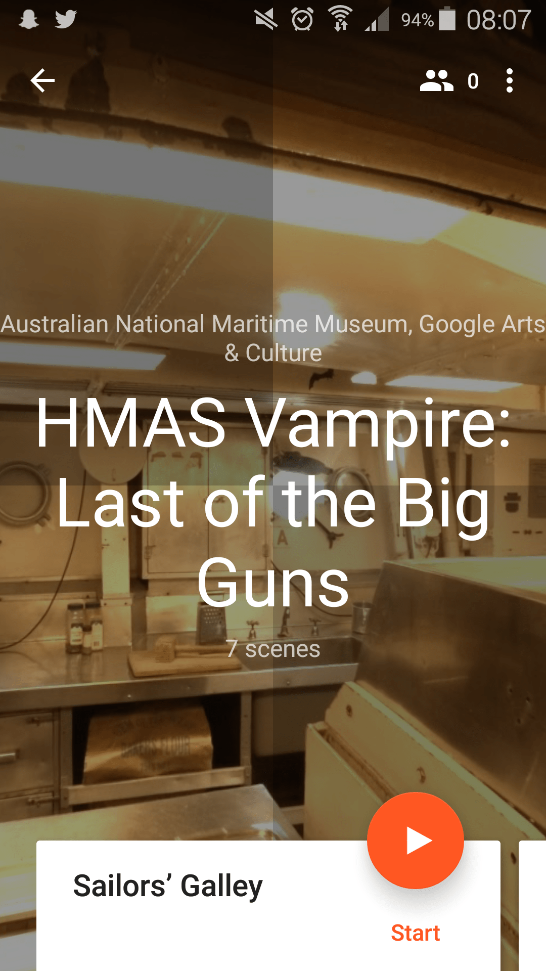 Virtual excursions to HMAS Vampire.