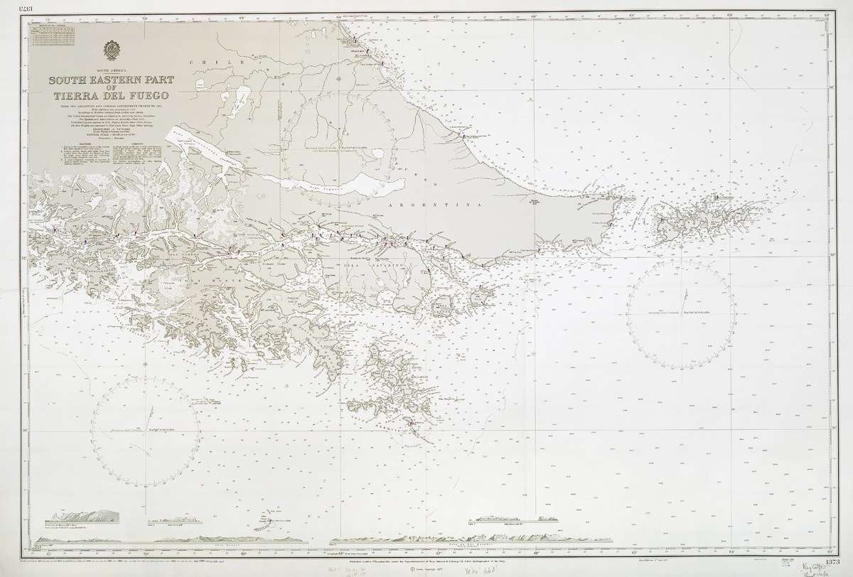 Chart of Cape Horn. ANMM Collection.