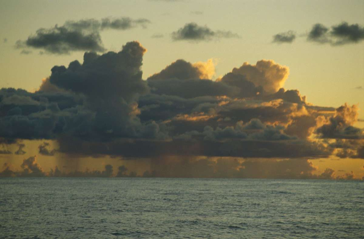 Low hanging cloud in the Atlantic Ocean. ANMM Collection, reproduced courtesy Kay Cottee.
