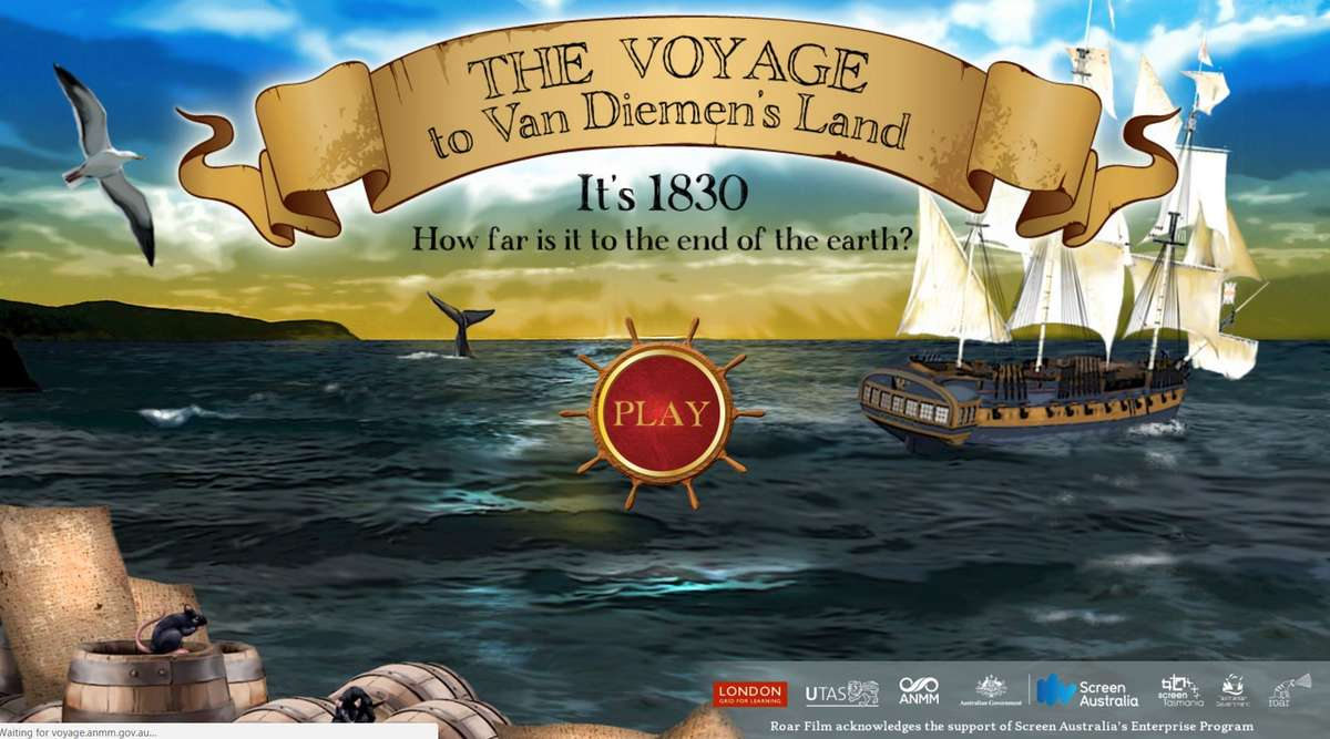 The Voyage, an online game exploring the convict experience. Image: ANMM.
