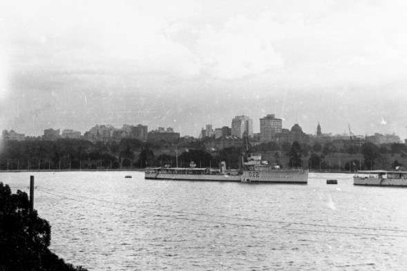 HMAS Waterhen in Sydney Harbour, c1925–33. ANMM Collection 00021576.