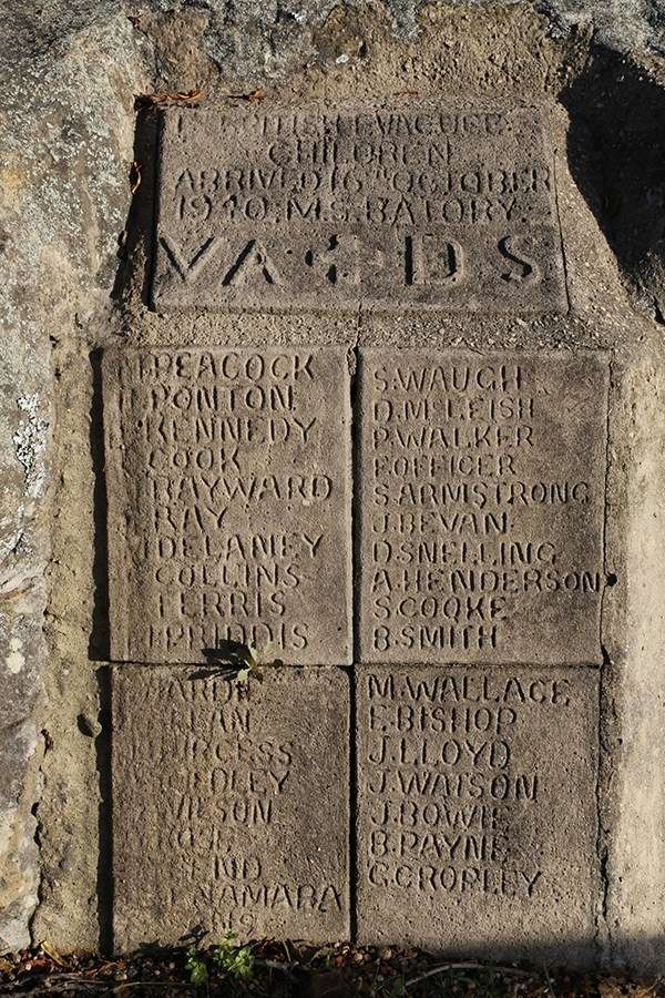 Although some are now obscured by erosion or road re-surfacing, the names of 37 VAs were carefully documented in this impressive inscription. Image: Ursula K Frederick, Sydney Harbour National Park.