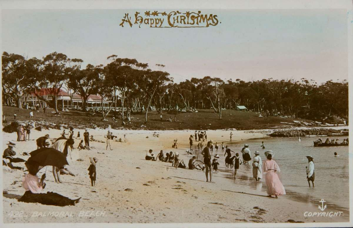 The ideology of the Australian beach Christmas beginning to be entrenched. ANMM collection 00039786.