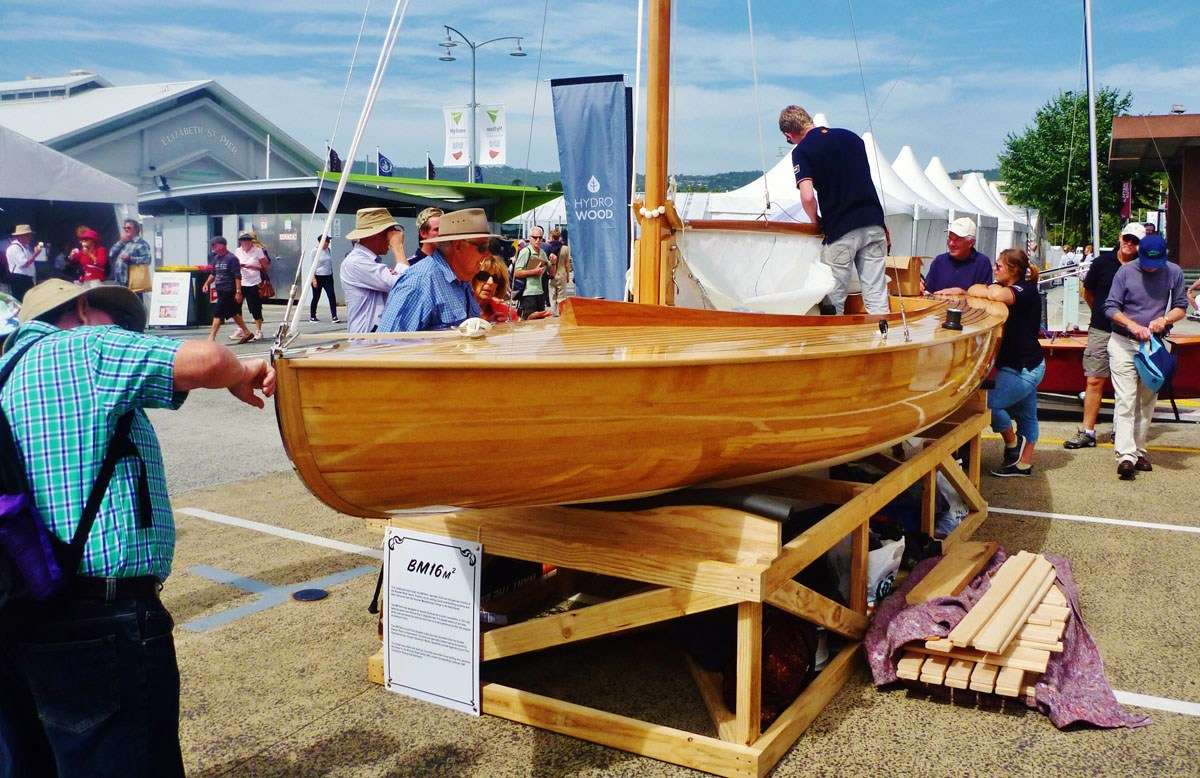 The Dutch 6m2 class yacht built in Franklin by a Dutch team and auctioned onsite on the Sunday.