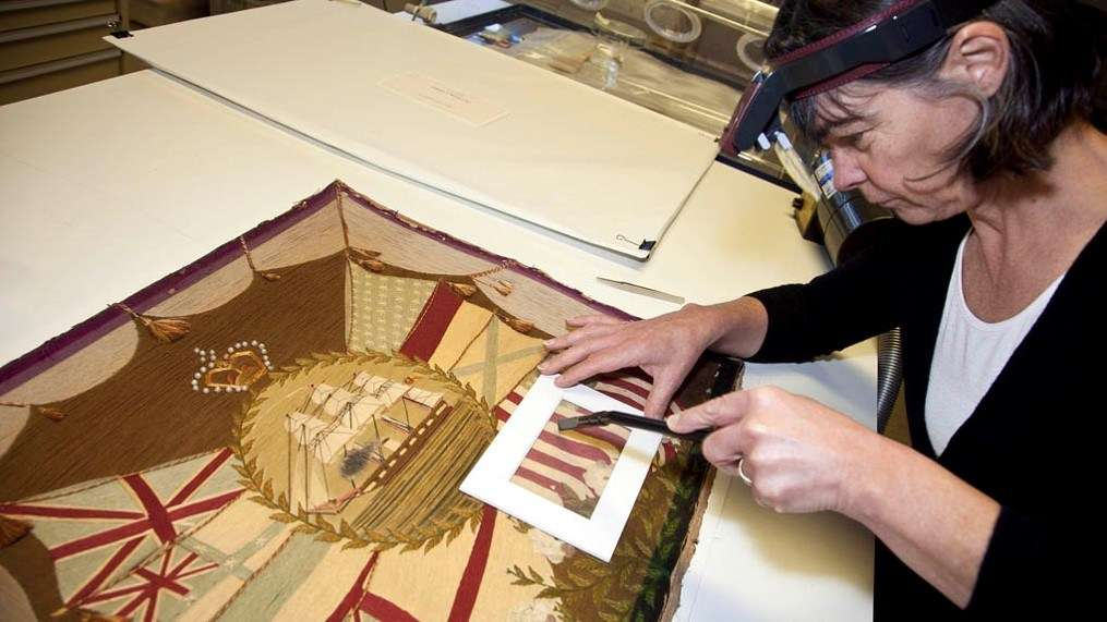 Textile conservator Sue Frost. Image: ANMM.