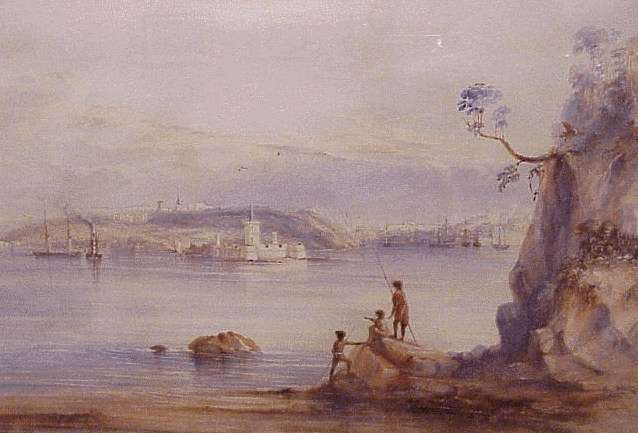 Sydney harbour in 1837. Not the most prepared location for a typhus fever outbreak.