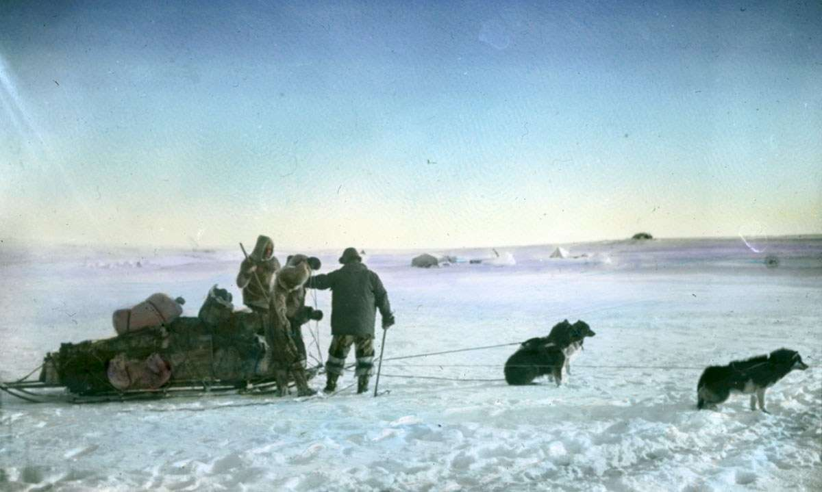 The Inuit use of dogs. Image: Photographer unidentified, courtesy Fram Museum.
