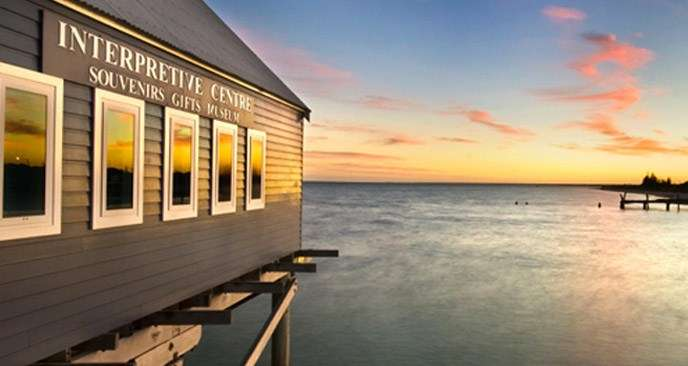 "The historic Busselton Jetty at sunset. Image: <a href=""http://www.busseltonjetty.com.au"">Busselton Jetty</a>."