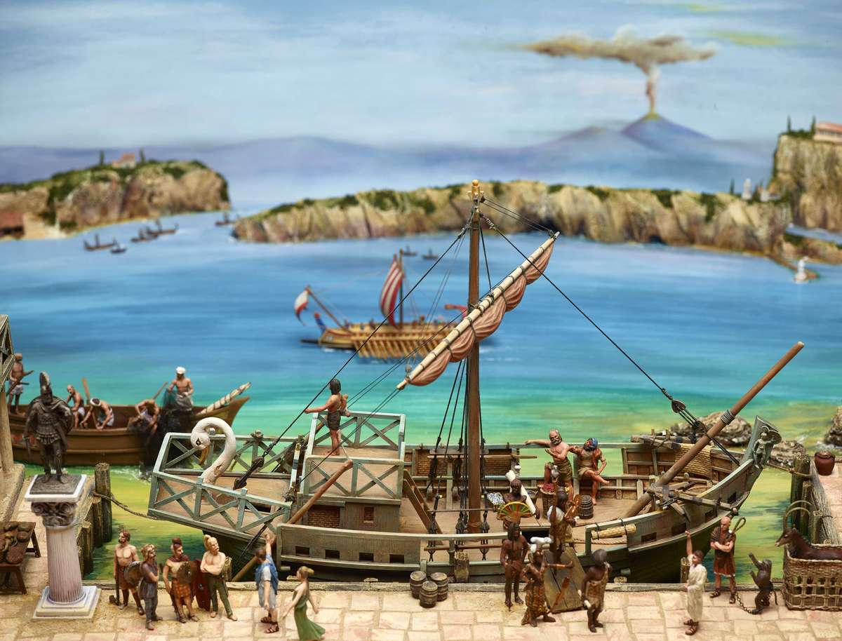 The Roman Empire is a multicultural mix, and exotic visitors are frequently seen at the dockside. Image: Andrew Frolows / ANMM.
