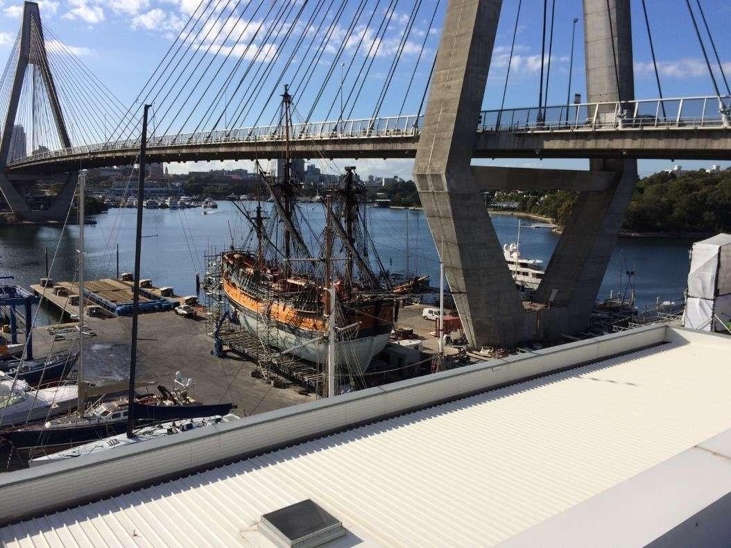 Endeavour at Sydney City Marine. Image: Jeremy Colville / ANMM.