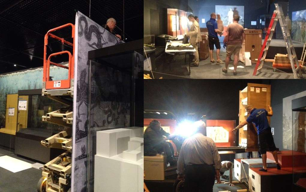 Installing the artefacts. Image: ANMM.