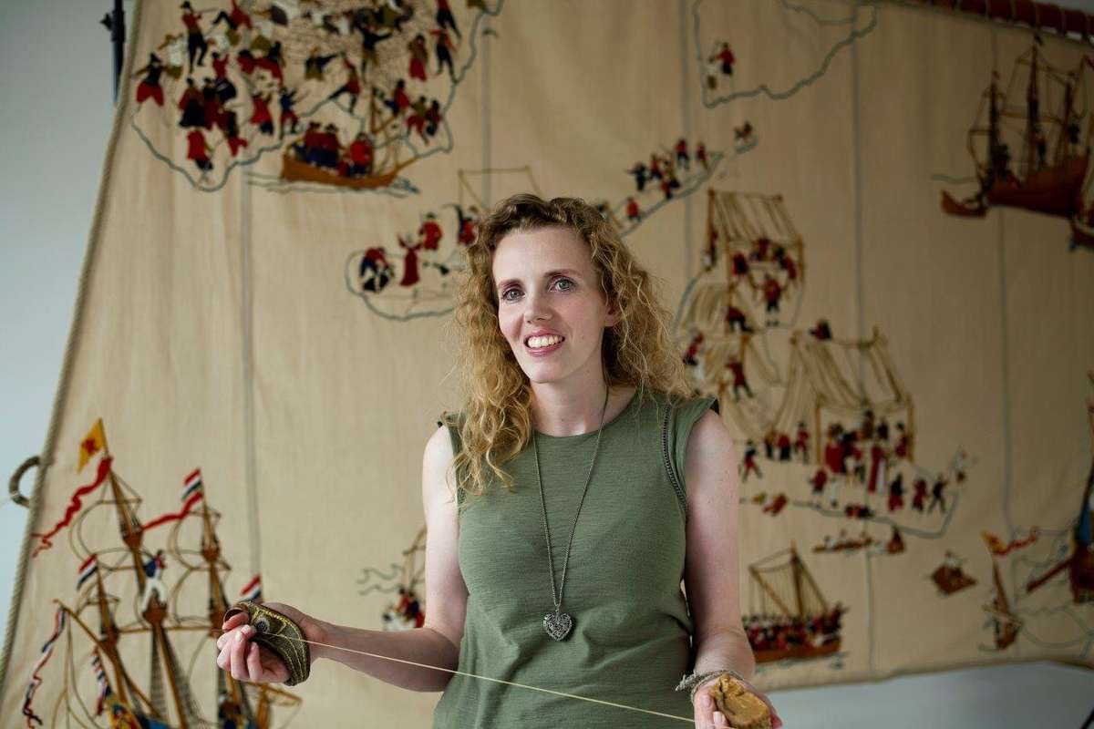 Melinda Piesse with some of her tools of the trade - a sailmaker