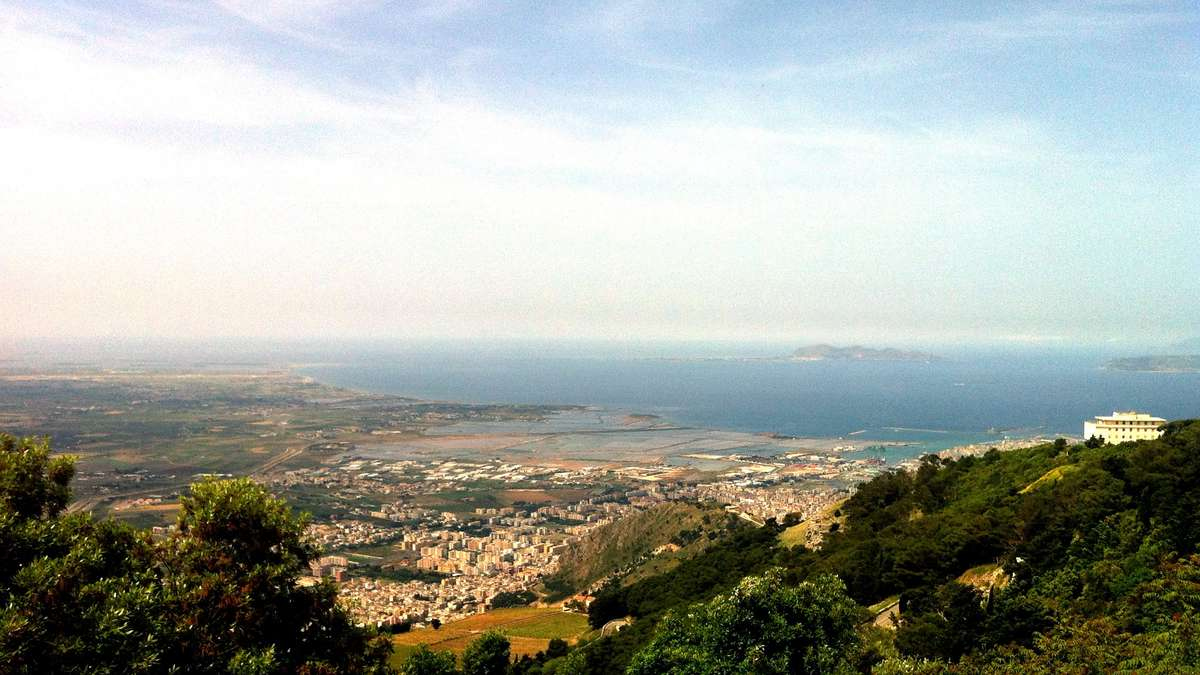 View of the Egadi islands from Erice. Image: Will Mather / ANMM.