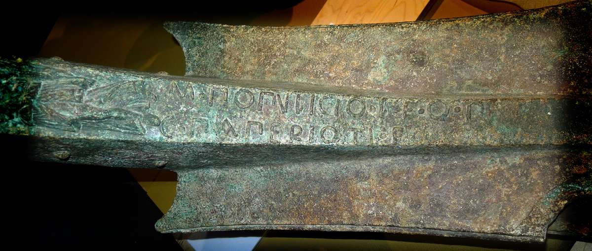 The inscription on the rostrum. Image: Will Mather / ANMM.