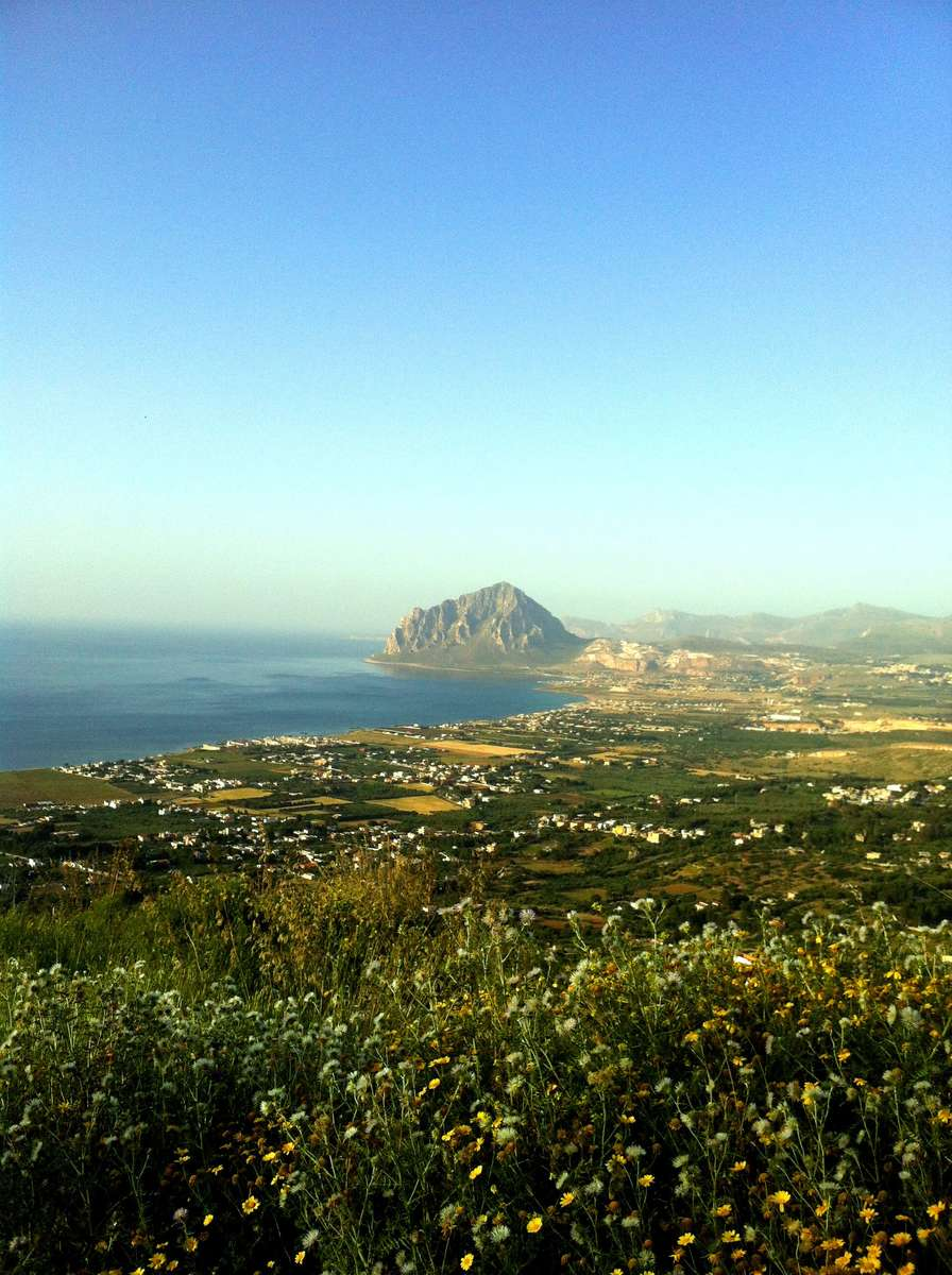 View of the Bonagia Bay from Erice. This is where the Carthaginian navy was heading to. Image: Will Mather / ANMM.