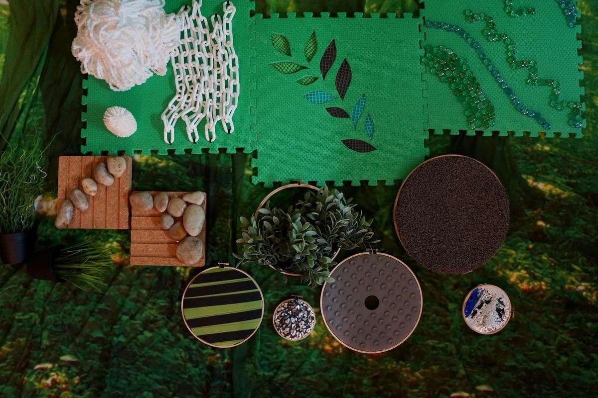 Finished craft: A sensory jungle. Image: Annalice Creighton / ANMM.