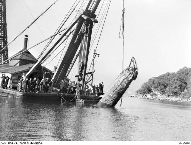 "M21 being raised. Image: <a href=""https://www.awm.gov.au/collection/305088""> Australian War Memorial</a>, via Wikimedia."