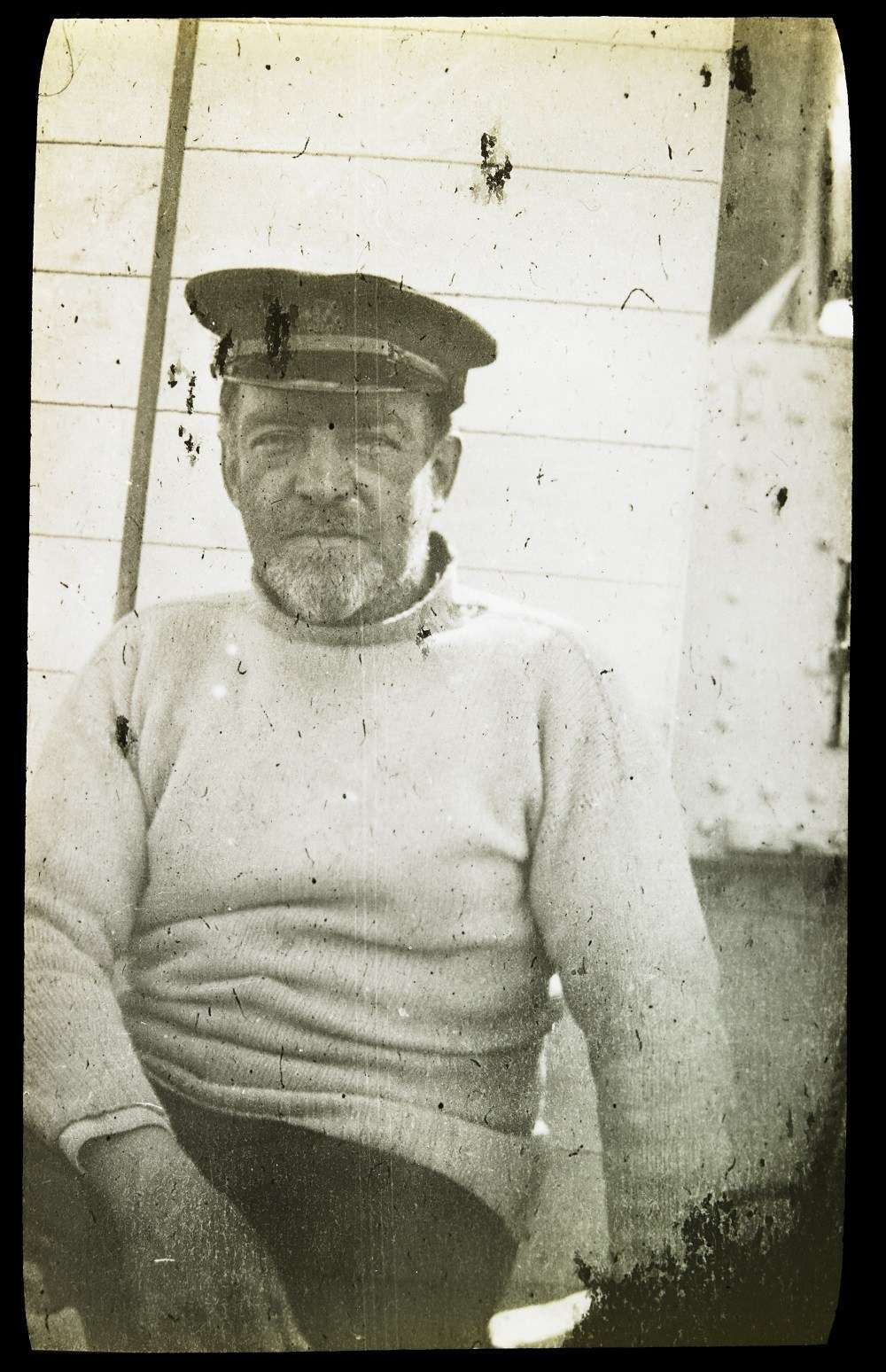 Sir Ernest Shackleton on board the relief voyage, February 1917, photographer Andrew Keith Jack, courtesy State Library of Victoria