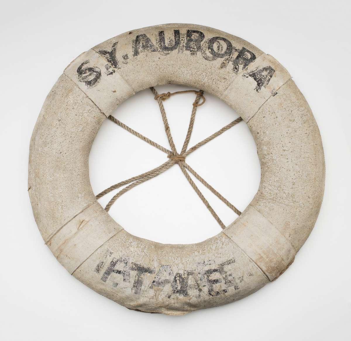 This lifebuoy is all that was recovered from the vessel's last days in Australian waters. Captain Reeves, his 20 men and his ship were lost.