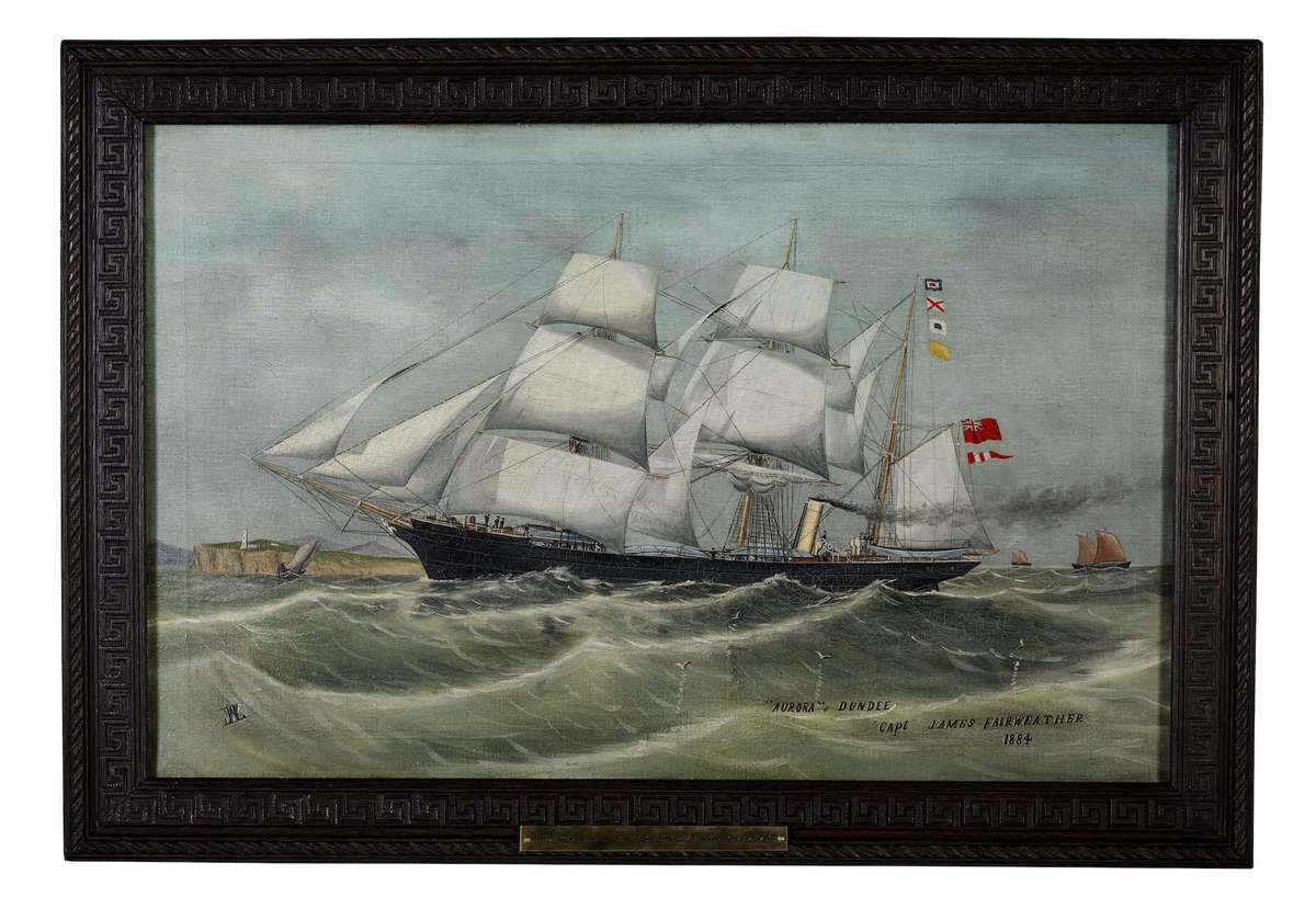 SY Aurora, artist unidentified, oil on canvas 1884, ANMM