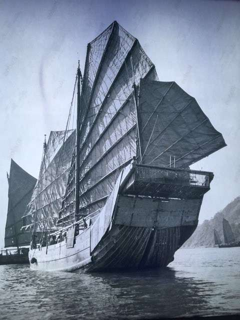 Chinese junk from the David Waters collection, Royal Museum Greenwich, circa 1930.