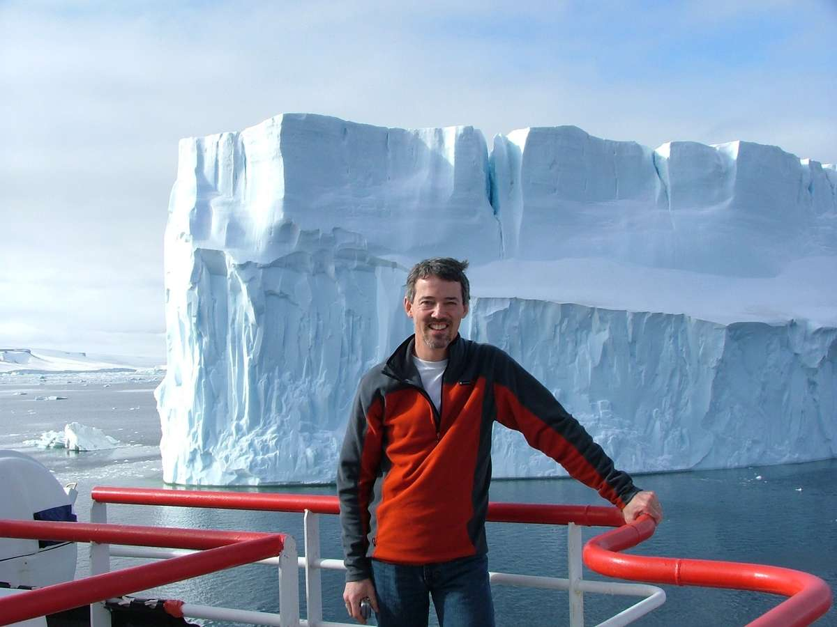 David Mearns in Antarctica. His search for the Shackleton