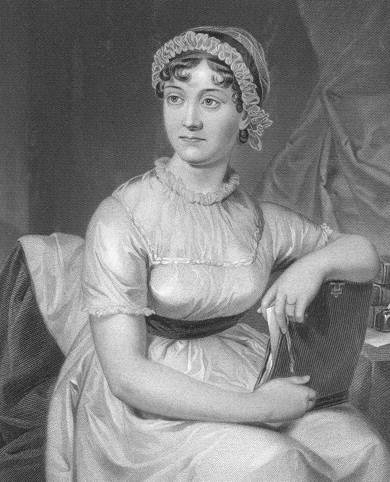 Portrait of Jane Austen. Image: University of Texas via wiki commons.