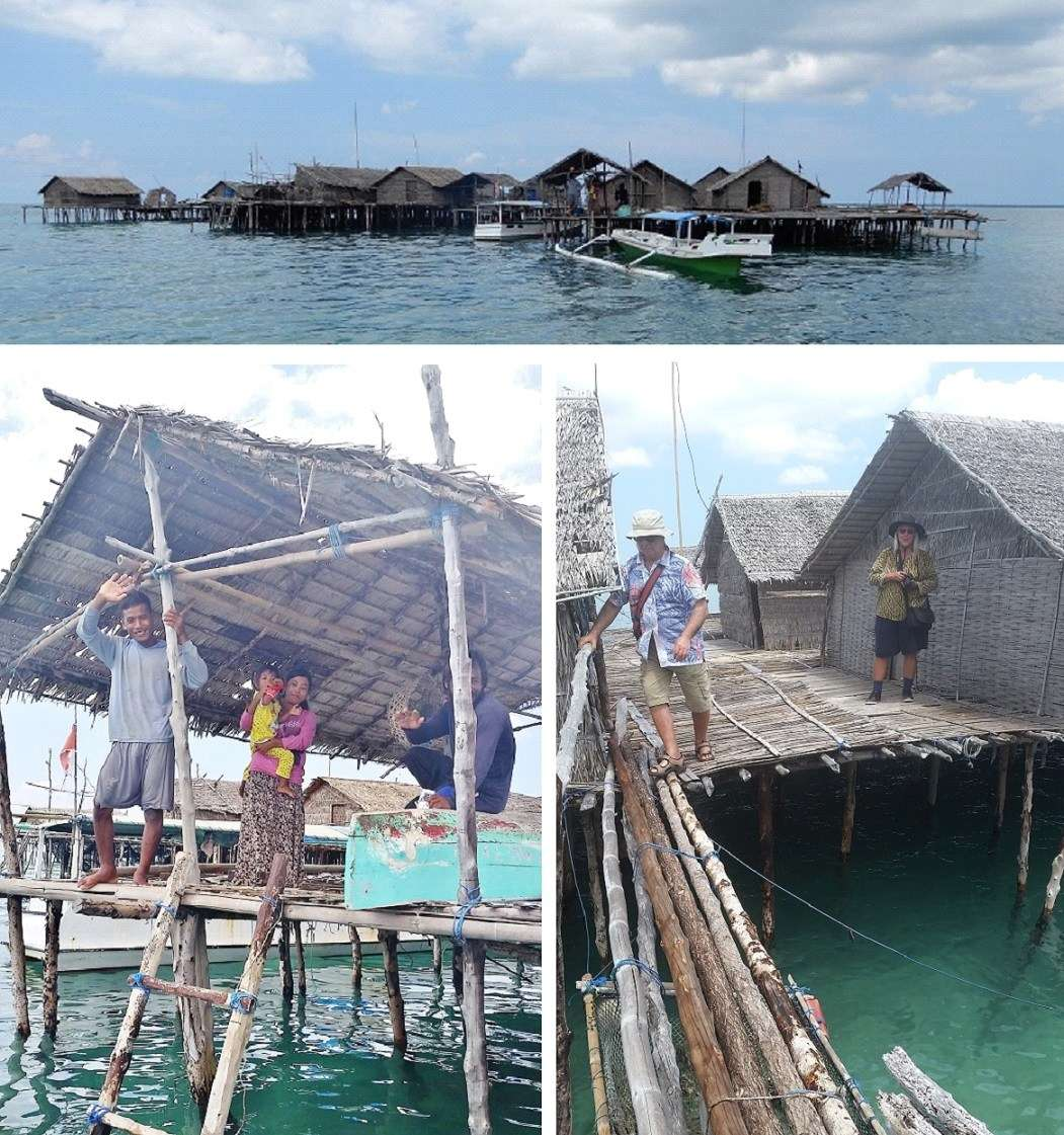 Sama-Bajau (sea-gypsy) village Takat Lanjang, built on a submerged coral reef in the Kangean Islands.