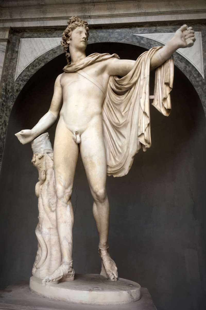 Apollo Belvedere in the Vatican Museums, a Roman copy after a Greek original, the hand has been identified as coming from this statue. Image: Will Mather.