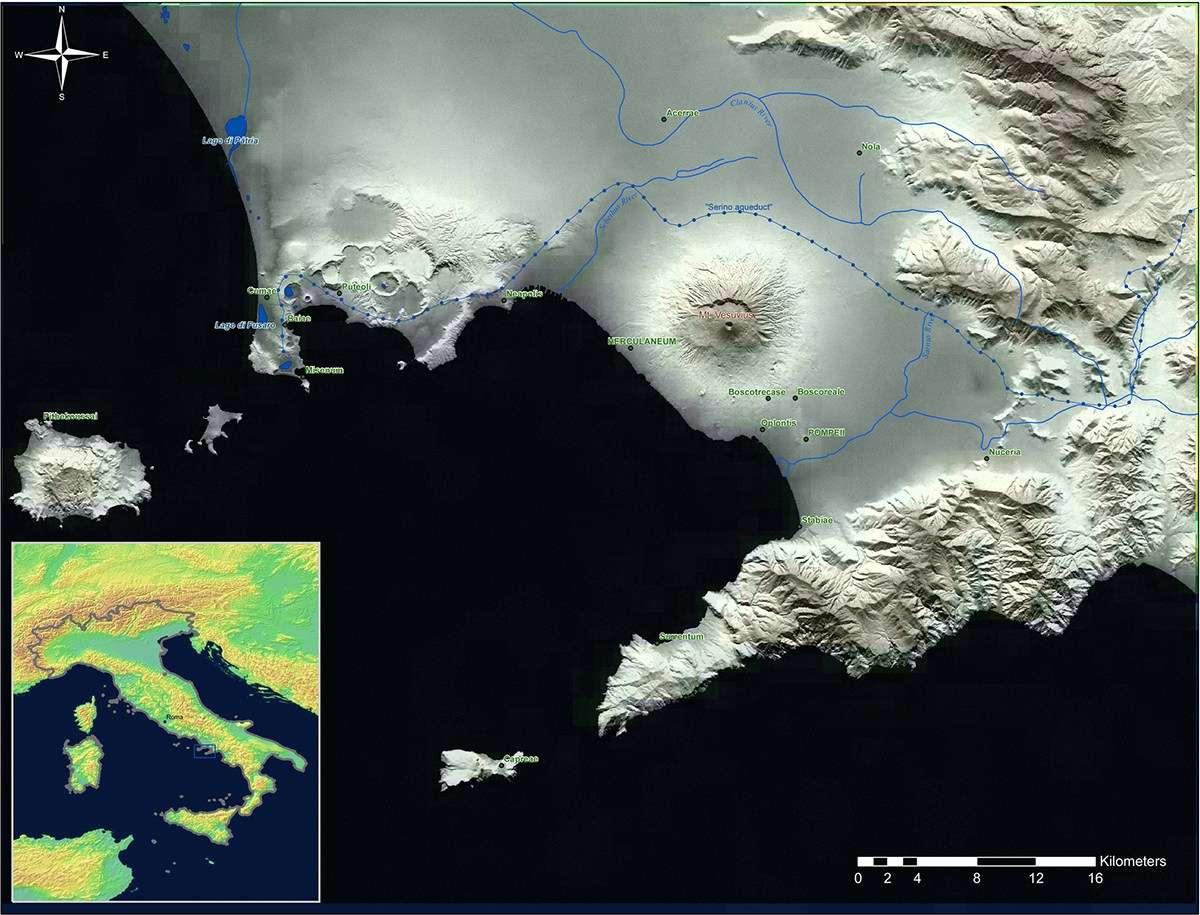 Bay of Naples, 79 AD. Image: <em>World of Pompeii</em>, John J. Dobbins & Pedar W. Foss (editors) © 2007 Routledge. Reproduced by permission of Taylor & Francis Books UK.