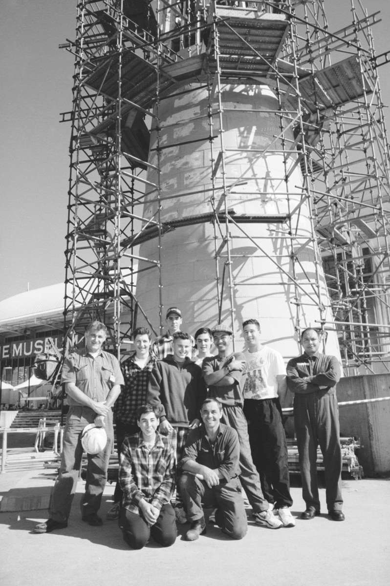 LEAP team portrait, 13 May 1994. Image: ANMM.
