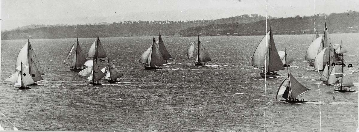 Sailing off Coal Point, c.1935. Photographer unknown. Image: Lake Macquarie Community Heritage Photography collection.