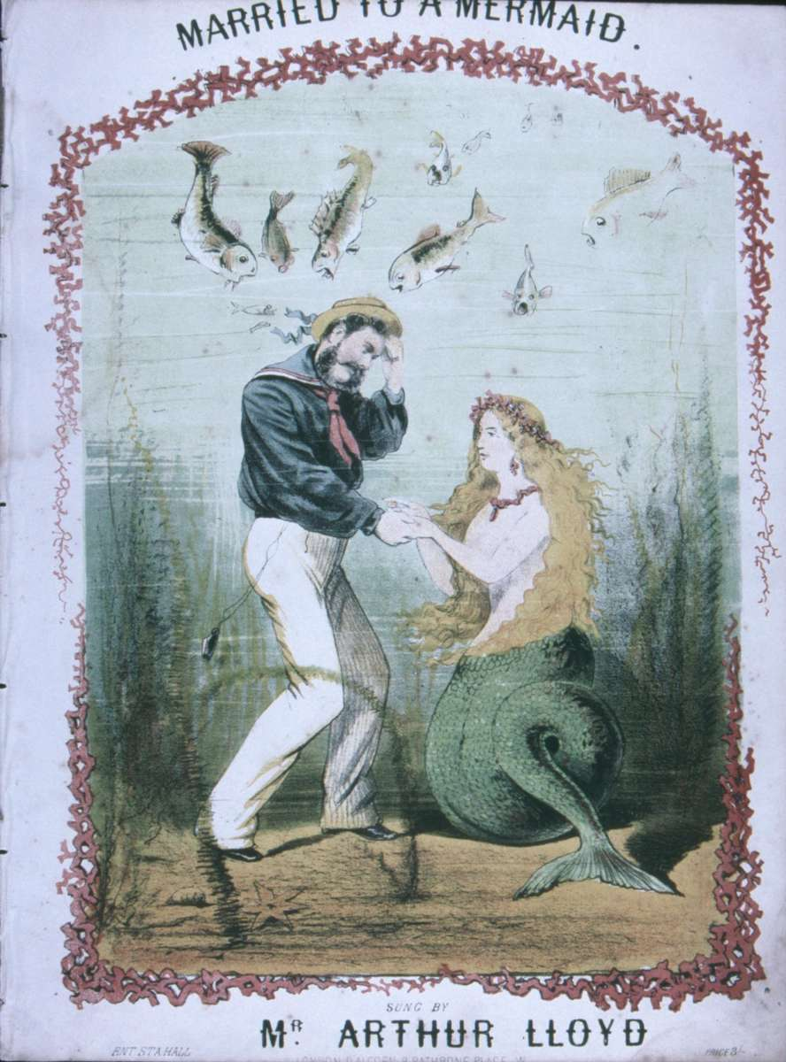 Singing of the romance of the seas by those ashore. Even the hope of meeting a mermaid wife. ANMM Collection 00028262.