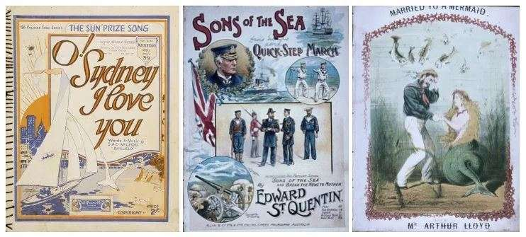 Sheet music in the ANMM Collection.