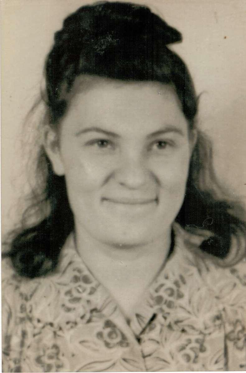 Vera Hladun, in 1950. Image: Hladun family.