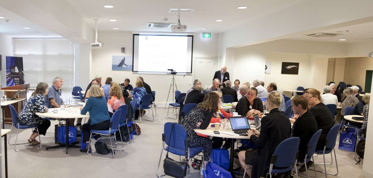 Partners, from across Australia, working on the concepts for <em>Submerged</em>. Image: ANMM.
